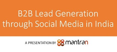 B2B lead generation through social media in India.