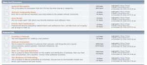 Blubrry Podcasting Forum Dashboard